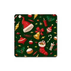 Cute Christmas Seamless Pattern Square Magnet