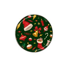 Cute Christmas Seamless Pattern Hat Clip Ball Marker