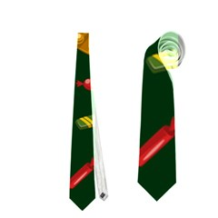 Cute Christmas Seamless Pattern Neckties (two Side)