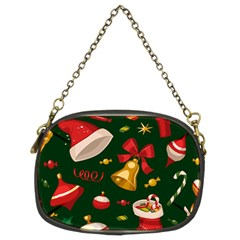 Cute Christmas Seamless Pattern Chain Purses (two Sides)