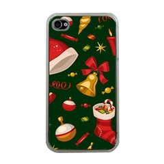 Cute Christmas Seamless Pattern Apple Iphone 4 Case (clear)