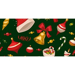 Cute Christmas Seamless Pattern YOU ARE INVITED 3D Greeting Card (8x4)