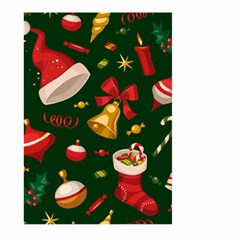 Cute Christmas Seamless Pattern Large Garden Flag (two Sides)
