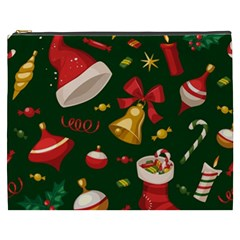 Cute Christmas Seamless Pattern Cosmetic Bag (xxxl)