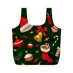 Cute Christmas Seamless Pattern Full Print Recycle Bags (m)