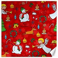 Cute Christmas Seamless Pattern Vector  Canvas 20  X 20