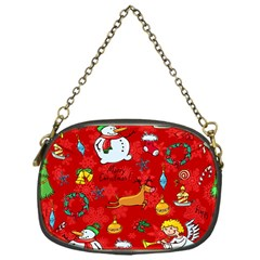 Cute Christmas Seamless Pattern Vector  Chain Purses (one Side)