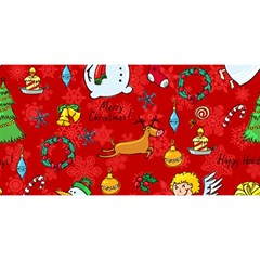 Cute Christmas Seamless Pattern Vector  You Are Invited 3d Greeting Card (8x4)
