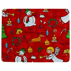 Cute Christmas Seamless Pattern Vector  Jigsaw Puzzle Photo Stand (rectangular)