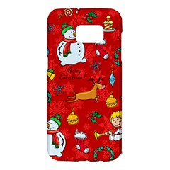 Cute Christmas Seamless Pattern Vector  Samsung Galaxy S7 Edge Hardshell Case