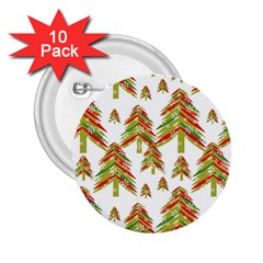 Cute Christmas Seamless Pattern Vector    2 25  Buttons (10 Pack)