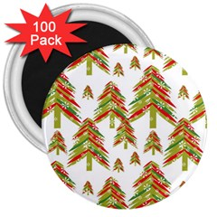 Cute Christmas Seamless Pattern Vector    3  Magnets (100 Pack)