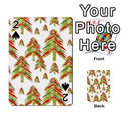 Cute Christmas Seamless Pattern Vector    Playing Cards 54 Designs