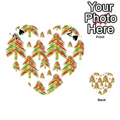 Cute Christmas Seamless Pattern Vector    Playing Cards 54 (Heart)
