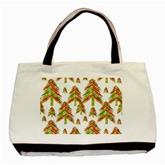 Cute Christmas Seamless Pattern Vector    Basic Tote Bag (two Sides)