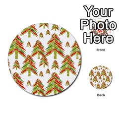Cute Christmas Seamless Pattern Vector    Multi Purpose Cards (round)