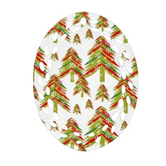 Cute Christmas Seamless Pattern Vector    Ornament (oval Filigree)