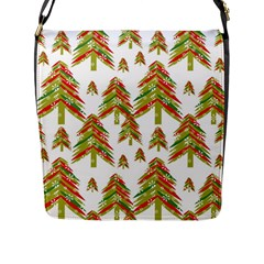 Cute Christmas Seamless Pattern Vector    Flap Messenger Bag (l)