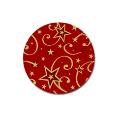 Elements Of Christmas Decorative Pattern Vector Magnet 3  (round)