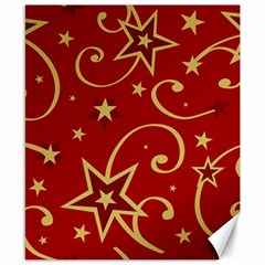 Elements Of Christmas Decorative Pattern Vector Canvas 8  X 10