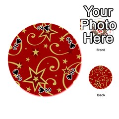 Elements Of Christmas Decorative Pattern Vector Playing Cards 54 (round)