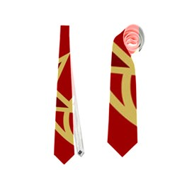 Elements Of Christmas Decorative Pattern Vector Neckties (One Side)