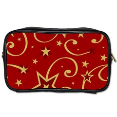 Elements Of Christmas Decorative Pattern Vector Toiletries Bags