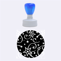 Elements Of Christmas Decorative Pattern Vector Rubber Round Stamps (Medium)