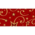 Elements Of Christmas Decorative Pattern Vector Twin Hearts 3D Greeting Card (8x4) Front