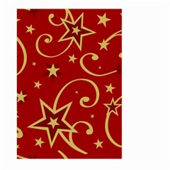 Elements Of Christmas Decorative Pattern Vector Large Garden Flag (two Sides)