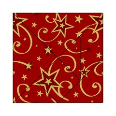 Elements Of Christmas Decorative Pattern Vector Acrylic Tangram Puzzle (6  X 6 )