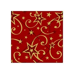 Elements Of Christmas Decorative Pattern Vector Acrylic Tangram Puzzle (4  X 4 )