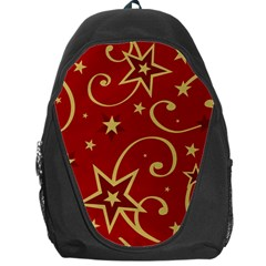 Elements Of Christmas Decorative Pattern Vector Backpack Bag