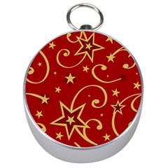 Elements Of Christmas Decorative Pattern Vector Silver Compasses