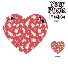 Pattern Christmas Elements Seamless Vector Playing Cards 54 (Heart)