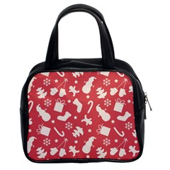 Pattern Christmas Elements Seamless Vector Classic Handbags (2 Sides)