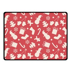 Pattern Christmas Elements Seamless Vector Double Sided Fleece Blanket (small)