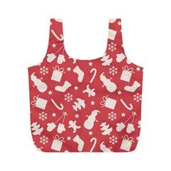 Pattern Christmas Elements Seamless Vector Full Print Recycle Bags (m)
