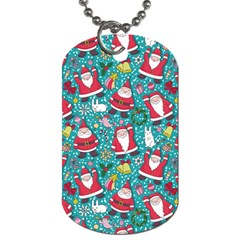 Cute Christmas Seamless Pattern Vector   Dog Tag (two Sides)