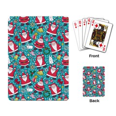 Cute Christmas Seamless Pattern Vector   Playing Card