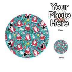 Cute Christmas Seamless Pattern Vector   Playing Cards 54 (round)