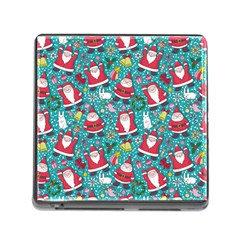 Cute Christmas Seamless Pattern Vector   Memory Card Reader (square)