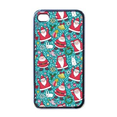 Cute Christmas Seamless Pattern Vector   Apple Iphone 4 Case (black)