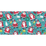 Cute Christmas Seamless Pattern Vector   BEST BRO 3D Greeting Card (8x4) Back