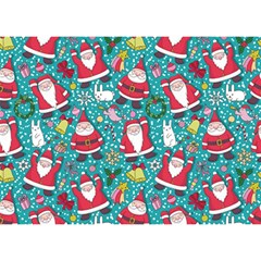 Cute Christmas Seamless Pattern Vector   Birthday Cake 3d Greeting Card (7x5)