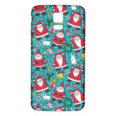 Cute Christmas Seamless Pattern Vector   Samsung Galaxy S5 Back Case (white)