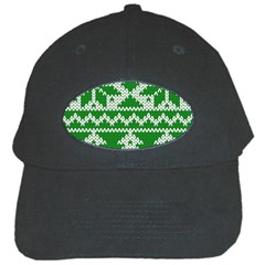 Knitted Fabric Christmas Pattern Vector Black Cap