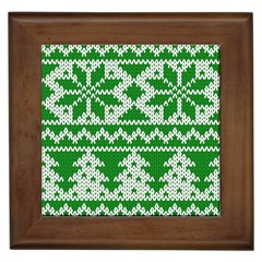 Knitted Fabric Christmas Pattern Vector Framed Tiles