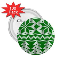 Knitted Fabric Christmas Pattern Vector 2 25  Buttons (100 Pack)