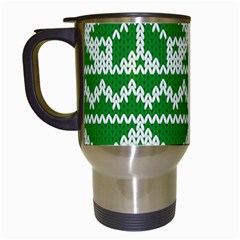 Knitted Fabric Christmas Pattern Vector Travel Mugs (white)